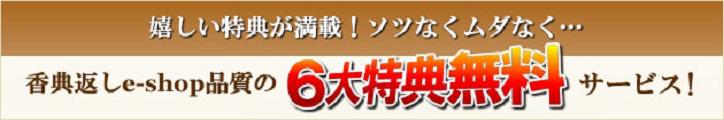 香典返しe-shop6大特典サービス